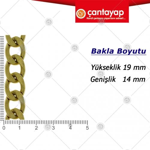 2mm Fırçalı antik zincir